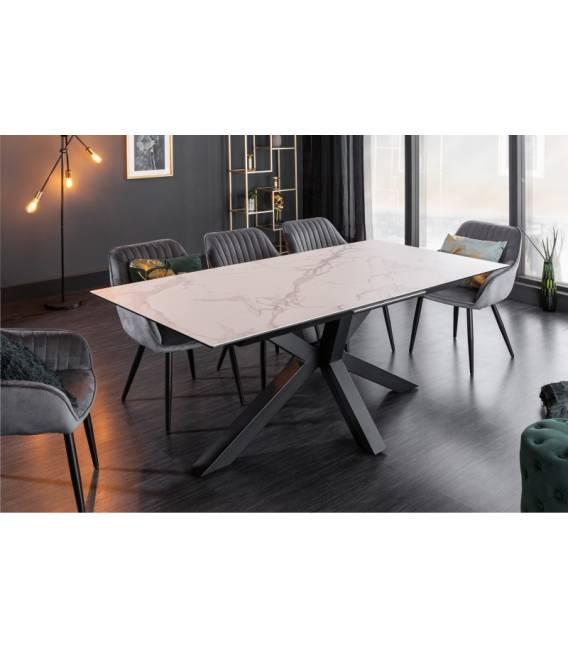 Išskleidžiamas stalas 40650 180(225)x90 balta marmuro