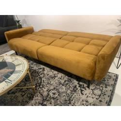 Sofa-lova JOSIE 207x71 garstyčių/juodos kojos