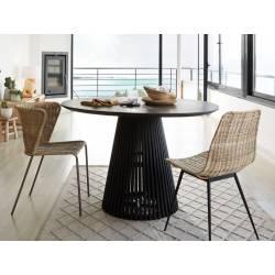 Apvalus stalas JEANETTE Ø120 juodas