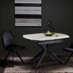 Išskleidžiamas stalas TORRE 120(178)x90x78 baltas