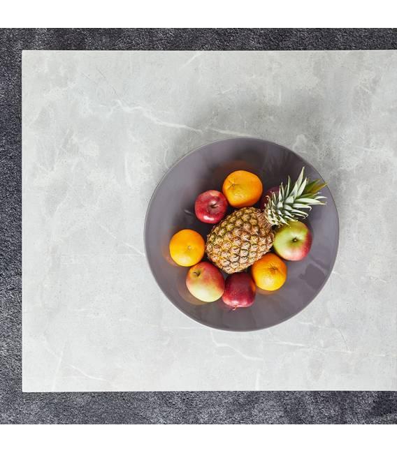Išskleidžiamas stalas GRATIS 160(220)x90 šviesiai pilkas su rudu