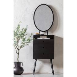 Spintelė su veidrodžiu VANITY juoda
