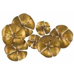 Dekoracija GOLDY FLOWER 80x57 auksinė