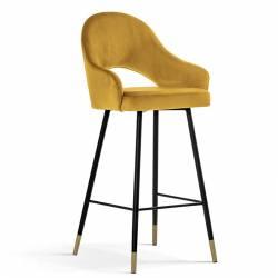 Pusbario kėdė POLA garstyčių / auksinės kojelės