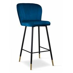 Pusbario kėdė MERIDA VIC mėlyna / auksinės kojelės