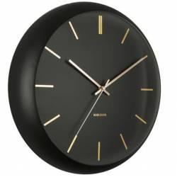 Laikrodis GLOBE Ø40 juodas