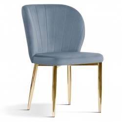 Kėdė MERIDA VIC šviesiai pilka /auksinės kojos