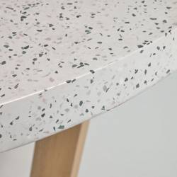 Apvalus stalas SHANELLE Ø120 akmens masės