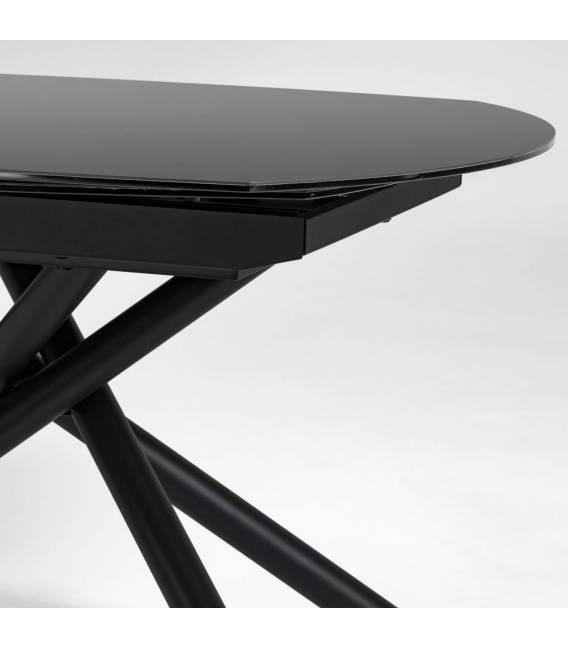 Išskleidžiamas stalas YODALIA 130(190)x100 juodas