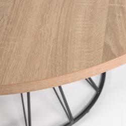 Apvalus stalas NIUT Ø120 juodomis kojomis