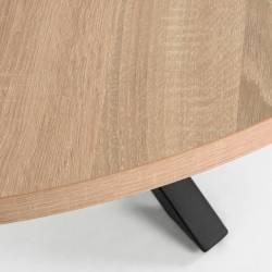 Apvalus stalas ARYA Ø119 juodas