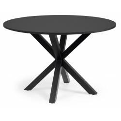 Apvalus stalas ARYA Ø119 juodas/juodomis kojomis