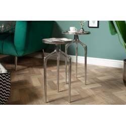 Šoniniai staliukai blizgaus aliuminio 40357