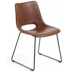 Kėdė ZIGGY PU ruda