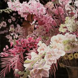 Paveikslas PINK FLOWERS 100x100