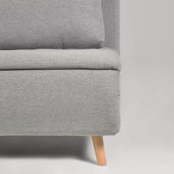 Išskleidžiamas fotelis KHINA 104x81 šviesiai pilkas