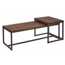 Kavos staliukas 39702 tamsiai rudas