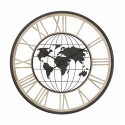Laikrodis WORLD DARK Ø70
