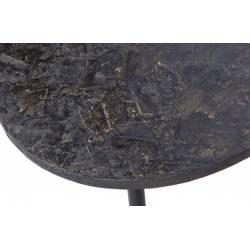 Šoninių staliukų komplektas OVAL Antique Gold