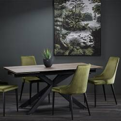 Išskleidžiamas stalas LEGNANO 160(240)x90 medžio imitacija
