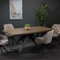 Išskleidžiamas stalas FARO 180(280)x100 pilka ąžuolo faneruotė