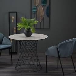 Stalas RETE Ø90 šviesiai pilkas