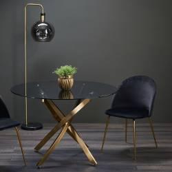 Apvalus stalas CROSS Ø110 auksinė koja