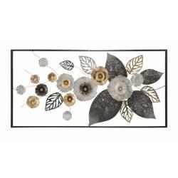 Dekoracija FERRO FRAME PLUS 120X59 metalinės gėlės