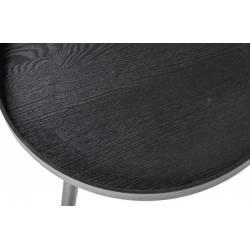Šoninis staliukas MESA M Ø45 juodas
