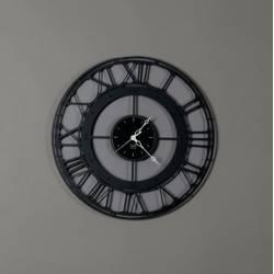 Laikrodis KOROS Ø50cm juodas