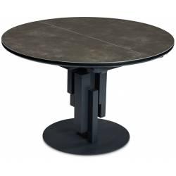 Išskleidžiamas stalas MASSO Ø120(160) tamsiai rudas