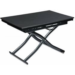 Išskleidžiamas kavos staliukas BERGAMO120(200)x75 juodas
