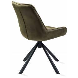 Kėdė AURORA eco-nobuck žalia/sukasi