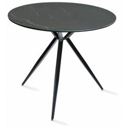 Apvalus stalas ARNO Ø89 juodai margas