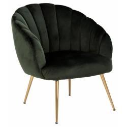 Fotelis 86457 VIC tamsiai žalias