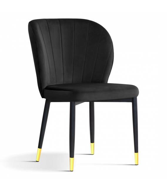 Kėdė MERIDA VIC juoda/auksinės kojelės