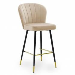 Pusbario kėdė MERIDA VIC smėlio/auksinės kojelės