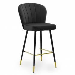Pusbario kėdė MERIDA VIC juoda/auksinės kojelės
