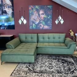 Minkštas kampas LEON 288x186 VIC žalias