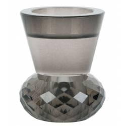 Žvakidė CRYSTAL ART DUO juodas stiklas