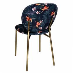 Kėdė AVELA 62x46x82cm tamsiai gelėta / aukso kojos