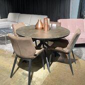 Išskleidžiamas stalas - HAYDEE 120(160)x76 🥰 #accantobaldai #baldai #baldusalonas #stalas #valgomojostalas #valgomasisstalas #valgomojobaldai #valgomojokedes #namai #namams #idejosnamams #ikvepimas #apvalusstalas #praktiškas #kėdės