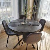 Dar vienas puikus valgomojo interjeras 🥰 AČIŪ klientei Auksei! ❤️ Stalas - FIORE 🤩 Kėdės - CONNY ⭐️ #accantobaldai #baldai #interjeras #stalai #valgomojostalas #stalas #valgomasis #valgomasistalas #valgomojobaldai #virtuve #isskleidziamasstalas #apvalusstalas #pilkaspalva #pietustalas #kede #kėdės #namai #idejosnamams #ikvepimas #jaukusnamai #interjerodizainas
