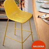 Pusbario kėdė - QUINBY ❤️Universalus modelis kuris gali būti naudojamas ir lauko terasoje. 🌞🌻 #baldai #accantobaldai #pusbariokedes #pusbariokede #geltona #geltonaspalva #vasara #kede #baldaiinternetu #namams #idejosnamams #ikvepimas #naujiena #ispaniskibaldai